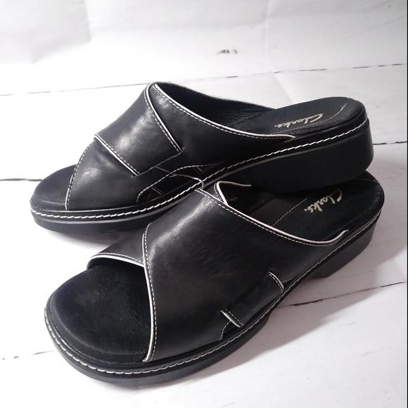 613cf450f Clarks Shoes - Clarks Slip On Mule Shoe Leather Sandals Women s
